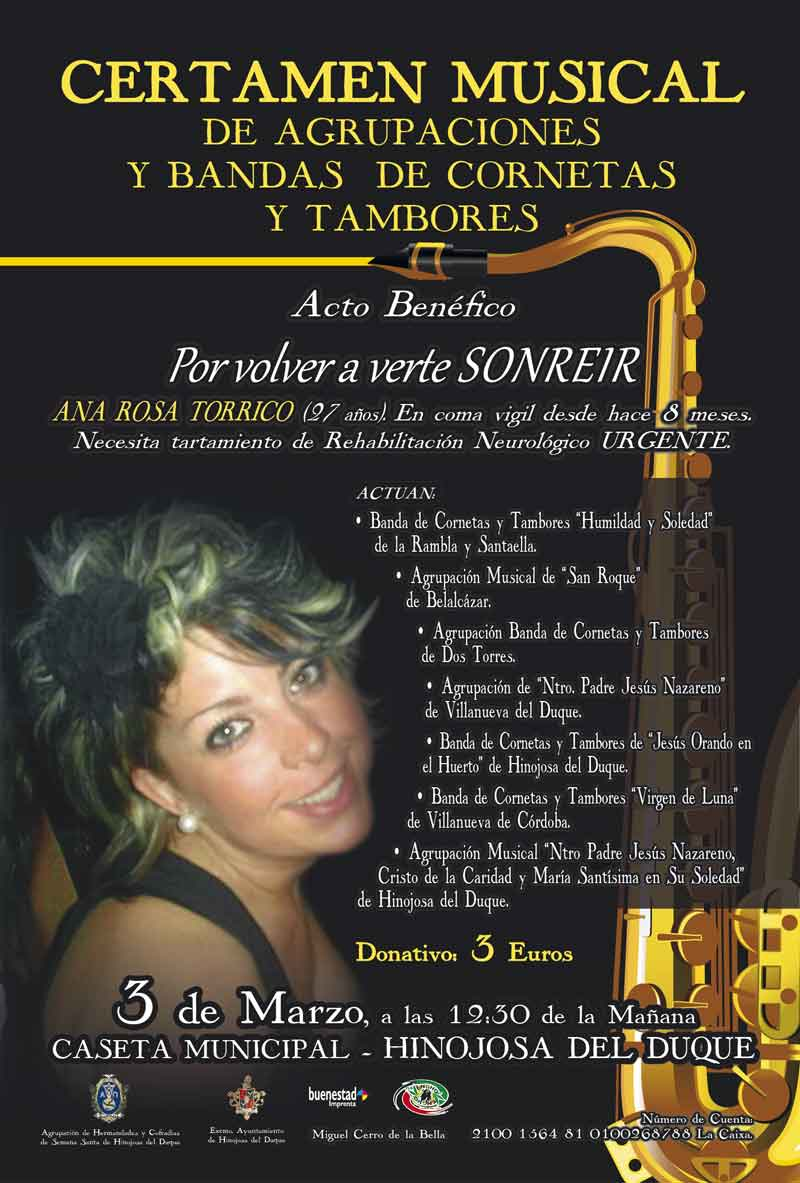 "Cartel Ana RosaWEB - Certamen Musical de Bandas "" Hinojosa del Duque """